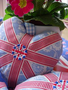 Union Jack pincushion #union #UK