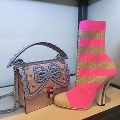 #ELLEshowroom #펜디 의 뉴 아이템! 이번 시즌에 새롭게 선보인 미니 스트랩유 #캔아이 백과 럭비 스트라이프 패턴의 앵클 부츠  via ELLE KOREA MAGAZINE OFFICIAL INSTAGRAM - Fashion Campaigns  Haute Couture  Advertising  Editorial Photography  Magazine Cover Designs  Supermodels  Runway Models