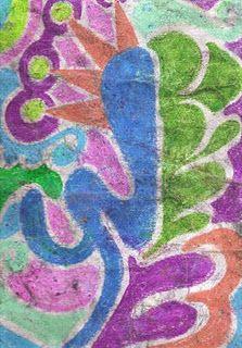 how to make paper look like batik