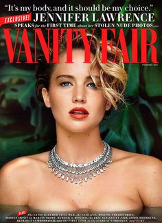 Jennifer Lawrence  portada de Vanity Fair
