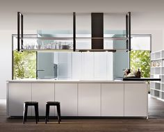 A unitary project, simple and linear: Hi-Line 6 is more than just a kitchen. It's a space to live in.