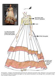 DIY White Georgette Layered Anarkali Suit
