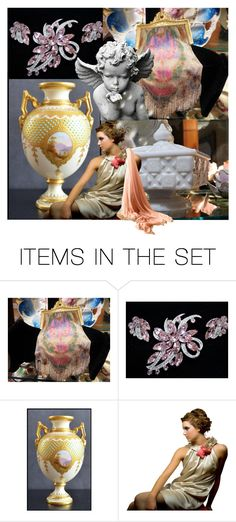 """""""Guardian Angel"""" by pattysporcelainetc ❤ liked on Polyvore featuring art, vintage and country"""