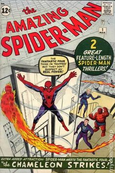 """This sale is for a reproduction of the Stan Lee / Marvel classic """"The Amazing Spiderman cover done as a stand-up display. Startin' to get up in the serious money for a full comic of this one. For those who don't have that kind of money and . Comics Spiderman, Marvel Comics, All Spiderman, Marvel E Dc, Comic Book Superheroes, Marvel Comic Books, Comic Books Art, Hulk Comic, Old Comics"""
