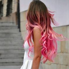i want to do this the summer after i ombre my hair.-pink ombre