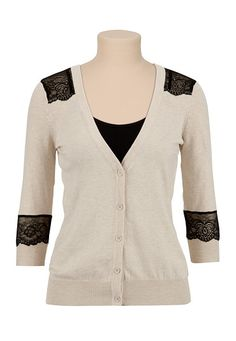 Neutral+lace+cardigan-- what more could a girl ask for?