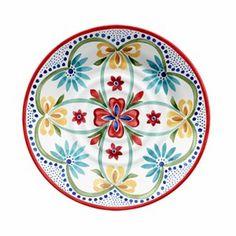 "Better Homes and Gardens 10.5"" Melamine Dinner Plate, Red Floral"