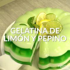 Gelatin Recipes, Jello Recipes, Mexican Food Recipes, Dessert Recipes, Jelly Desserts, Sweet Desserts, Cooking Recipes, Healthy Recipes, Cooking Okra