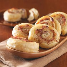 These golden-brown pinwheels get their fabulous flavor from prosciutto, Dijon mustard and Parmesan cheese.