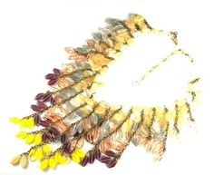 Miriam Haskell Glass Bead Bib Style Necklace by Anna's Vintage Jewelry a Ruby Lane Shop