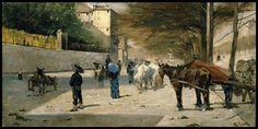 """Giovanni Fattori, """"Viale Principe Amedeo a Firenze"""", 1880, olio su tela. Collezione privata"""