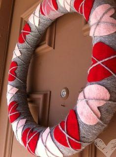 Argyle valentine wreath