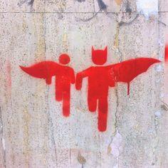 Stencil StreetArt BuenosAires #Batman