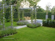 12 Pergola Patio Ideas that are perfect for garden lovers! Pergola Garden, Garden Landscaping, Backyard Buildings, Steel Pergola, Pergola Lighting, Yard Design, Garden Photos, Pergola Designs, Garden Structures