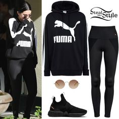 puma x selena gomez . Selena Gomez Shoes, Selena Gomez Outfits, Selena Gomez Style, Puma Outfit, Pants Outfit, Celebrity Piercings, Kendall Jenner Style, Kardashian Style, Athletic Outfits