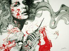 Illustrator, painter and engraver Gabriel Moreno