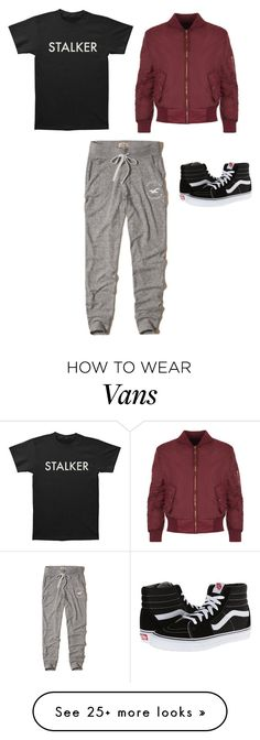 """Boyish Look"" by riley-specht on Polyvore featuring WearAll, Hollister Co. and Vans"