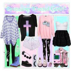 """""""How To Dress Pastel Goth"""" by hardcore-tipgirls on Polyvore"""