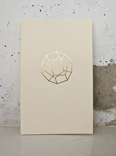 gold foil, cream paper stock #design #graphicdesign #printfinishes #print #foil