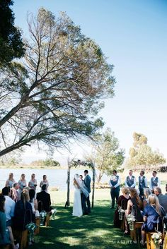 Outdoor ceremony. Rustic