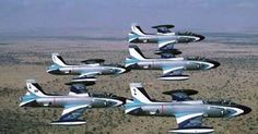 South African Air Force Silver Falcons Impala Mk1s South African Air Force, Battle Rifle, Korean War, Fighter Jets, Aviation, Aircraft, Impalas, Air Planes, Military