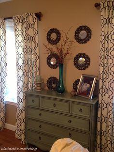 living room w/ ballard curtains
