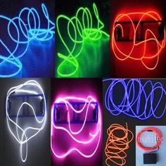 Sound Activated EL Wire Rope Glow Neon Light Tube Car Bar Dance Party Burning