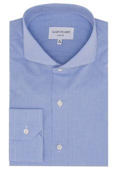Chemise Slim Fit en popeline à carreaux bleu clair