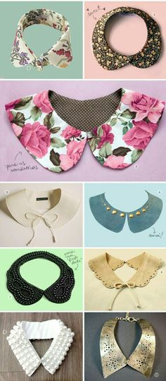 cute diy collar ideas for women and kids : i love collars. great ideas for diys and cardigans. These will make any outfit pop with a little something special. Turn your boring outfit into something memorable. Diy Clothing, Sewing Clothes, Dress Patterns, Sewing Patterns, Fashion Patterns, Diy Fashion, Womens Fashion, Fashion Design, Fashion Outfits