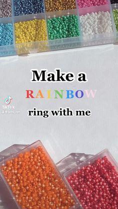 Diy Beaded Rings, Diy Jewelry Rings, Diy Jewelry Unique, Handmade Wire Jewelry, Diy Crafts Jewelry, Fun Diy Crafts, Diy Rings, Bracelet Crafts, Bead Jewellery