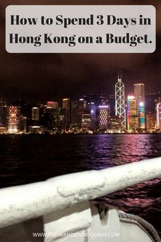 How to Spend 3 Days in Hong Kong on a Budget. Hong Kong is by far not Asia's cheapest City to visit, especially for a backpacker on a budget, however I was happy with the small amount of money I spent whilst there for 3 days. This is what I did and what I spent!