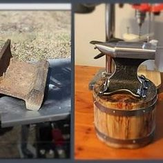 Anvil by Tuomas -- Hi. I wanted to have small anvil. Made it from railroadtrack with angle grinder. Used 2mm cut off wheels, 8mm grinding wheel and 80grit flap wheel for shaping. Removed the rust with steel...