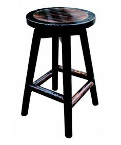 Char-log Swivel Bar Stool