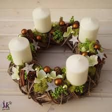 Výsledek obrázku pro moderní adventní věnec Candle Sconces, Christmas Wreaths, Wall Lights, Candles, Home Decor, Art, Advent, Corona, Xmas