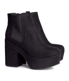 Botines de Plataforma Negros H&M 34,95€