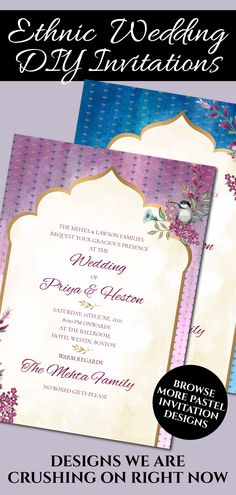 This Royal Wedding invite template is perfect for you if you are looking for classy printable jewel tone invitations and editable template downloads for your Indian invitation insert!This Royal Indian Wedding invitation card with gem colours Royal Invitation, Indian Wedding Invitation Cards, Indian Wedding Invitations, Wedding Invitation Card Template, Digital Invitations, Invitation Design, Invitation Suite, Wedding Prep, Wedding Planning