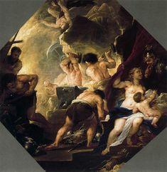 [Baroque] 'La fucina di Vulcano' -  di Luca Giordano (1634-1705, Italy)