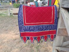 Medieval saddle pad - Baroque horse tack by ThePaintedPonyTack on Etsy https://www.etsy.com/listing/174604319/medieval-saddle-pad-baroque-horse-tack