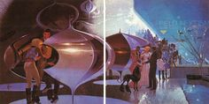 """Sydney Jay Mead, commonly Syd Mead (born July is a prolific and influential American """"visual futurist"""", industrial designer and a. Retro Futuristic, Futuristic Design, Syd Mead, Retro Rocket, Ralph Mcquarrie, Creative Activities, Sci Fi Art, Les Oeuvres, Science Fiction"""