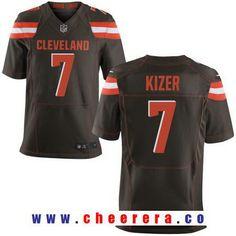 Men's 2017 NFL Draft Cleveland Browns #7 DeShone Kizer Brown Team Color Stitched NFL Nike Elite Jersey