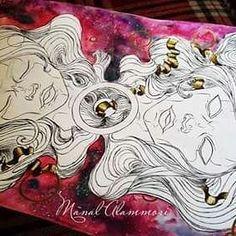 Traditional drawing by Manal Alammori