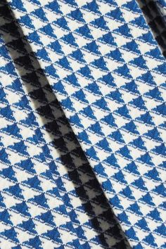 Gucci - Pleated Houndstooth Wool-blend Skirt - Blue