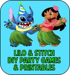 Lilo and Stitch party games, ideas, DIY, printables and more to make your Hawaii. Lilo and Stitch Hawaiian Birthday, Luau Birthday, Disney Birthday, Birthday Party Games, Hawaiian Party Games, Birthday Ideas, Hawaiian Luau, 11th Birthday, Birthday Cake