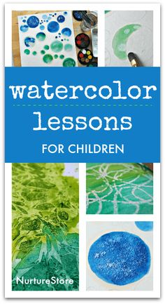 easy watercolour lessons for children, simple watercolour techniques, STEAM art and science lesson plan