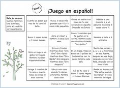Spanish speaking practice in a series of short, fun activities for kids..