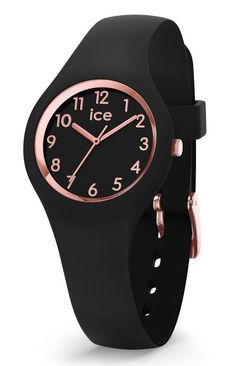 fc4d1d495a22e Ice-Watch ICE Glam Black Rosegold 30 mm zwart-rosékleurig IW015344. Leuk  kinderhorloge