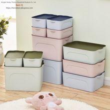 Envío libre caja de plástico de acabado, ropa, cajón, caja de almacenamiento de escritorio(China)