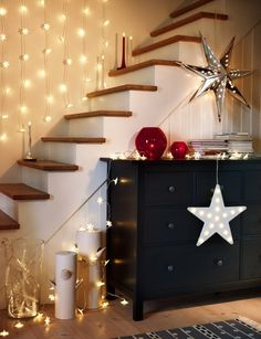 Ikea String Lights Inspiration To Decorate For The Holidays  Corner Star And Diys