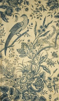 Textiles (Furnishing) - Quilt (Wholecloth quilt) - Search the Collection - Winterthur Museum Motifs Textiles, Vintage Textiles, Textile Patterns, Textile Prints, Vintage Prints, Textile Design, Fabric Design, Print Patterns, Fabric Wallpaper