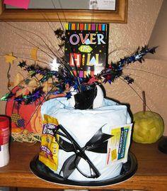 Over the Hill Diaper Cake - Gag Gift - Birthday Gift